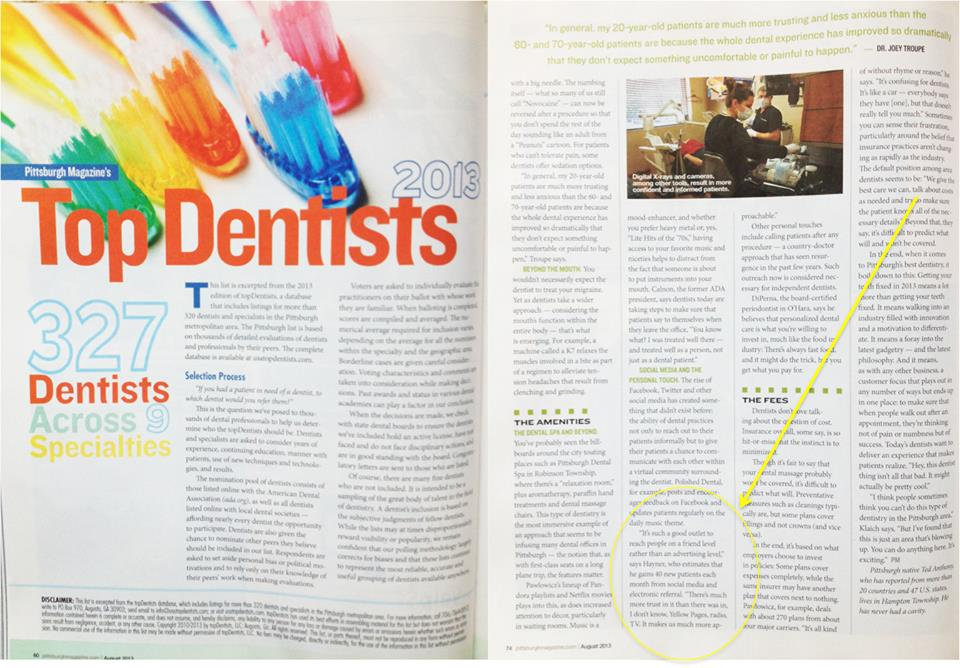 pittsburgh top dentist dr hayner 2013